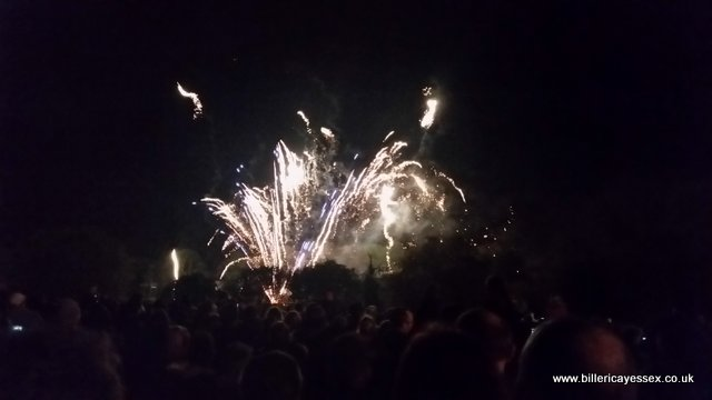 Billericay Fireworks at Lake Meadows