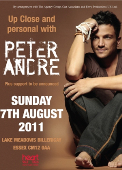 Peter Andre Lake Meadows poster