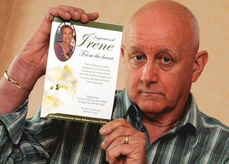 John Yarrow with 'Inspirational Irene' book