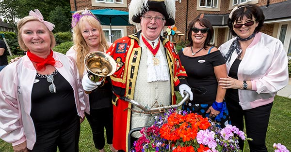 Anisha Grange's Lifestyle team with the Billericay Town Crier