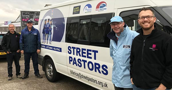 Deserving- Billericay Street Pastors and their new minibus with the team from Black Square