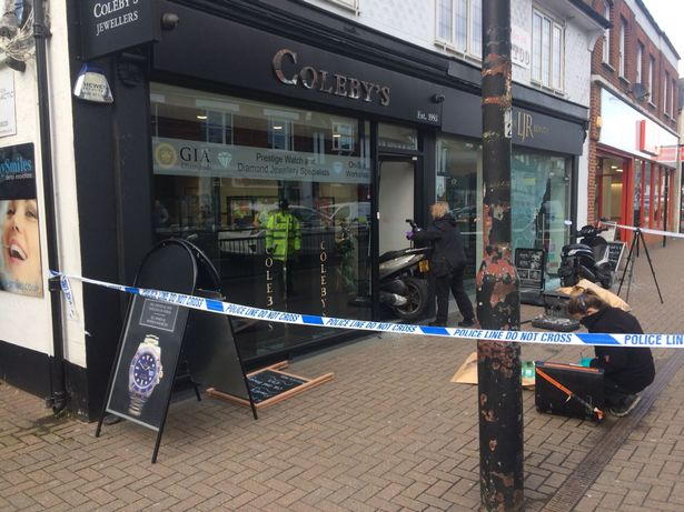 Police cordon around Coleby's Jewellery