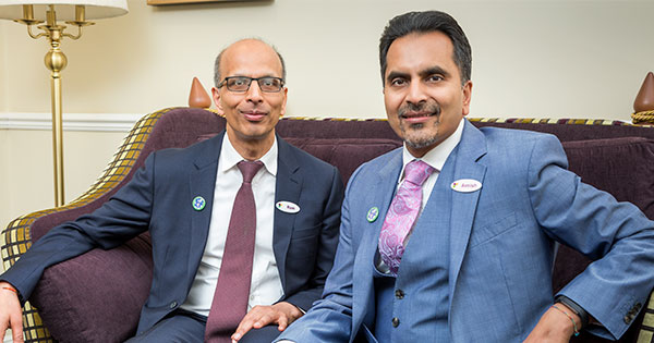 Hallmark Care Homes Managing Director Avnish Goyal and Director Ram Goyal